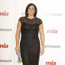 Rosa López en la entrega de los Premios Cuida de ti 2014