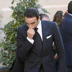 Enrique Ponce en el entierro de José María Manzanares padre