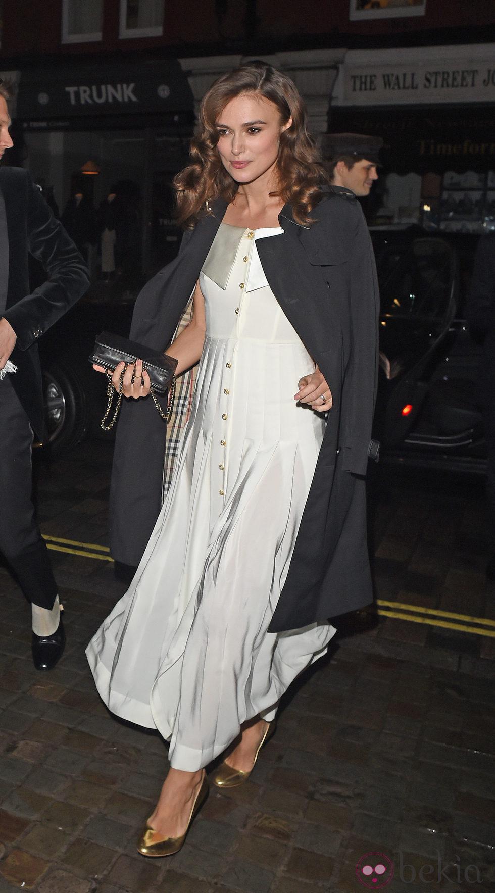 Keira Knightley en la fiesta del 60 cumpleaños de Mario Testino