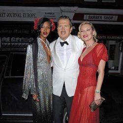 Mario Testino en su fiesta de 60 cumpleaños con Kate Moss y Naomi Campbell