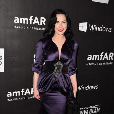 Dita Von Teese en la 'AmfAR Inspiration Gala' 2014 en Hollywood