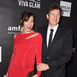 Milla Jovovich y Paul W.S.Anderson en la  gala de honor a Tom Ford