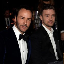 Tom Ford y Justin Timberlake en la 'AmfAR Inspiration Gala' 2014 en Hollywood