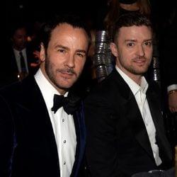 Tom Ford y Justin Timberlake en la 'AmfAR Inspiration Gala' 2014 en Hollywood