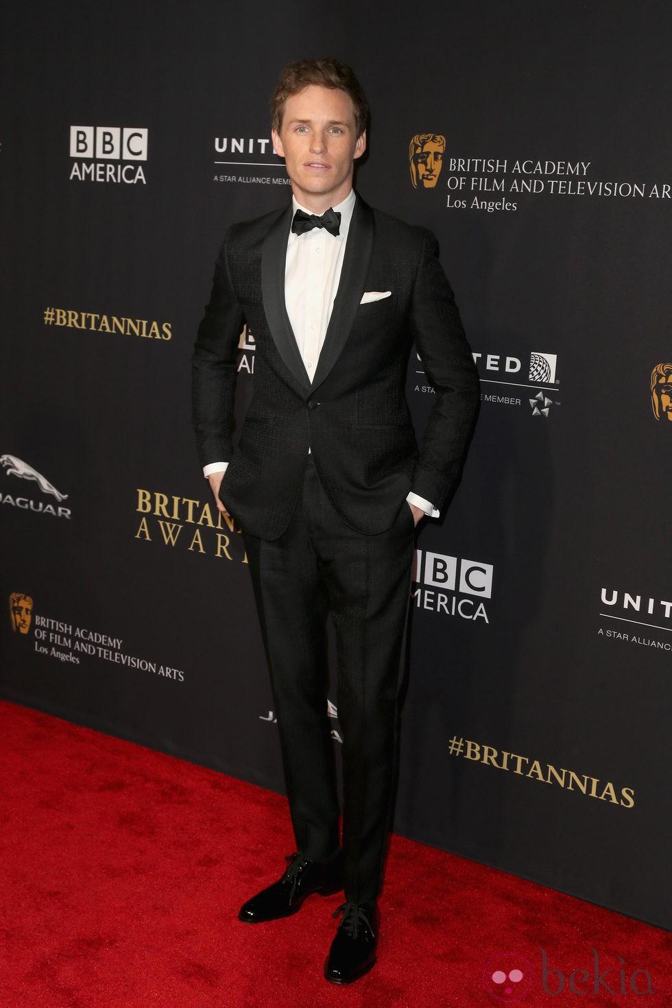 Eddie Redmayne en la entrega de los Premios Bafta Britannia 2014