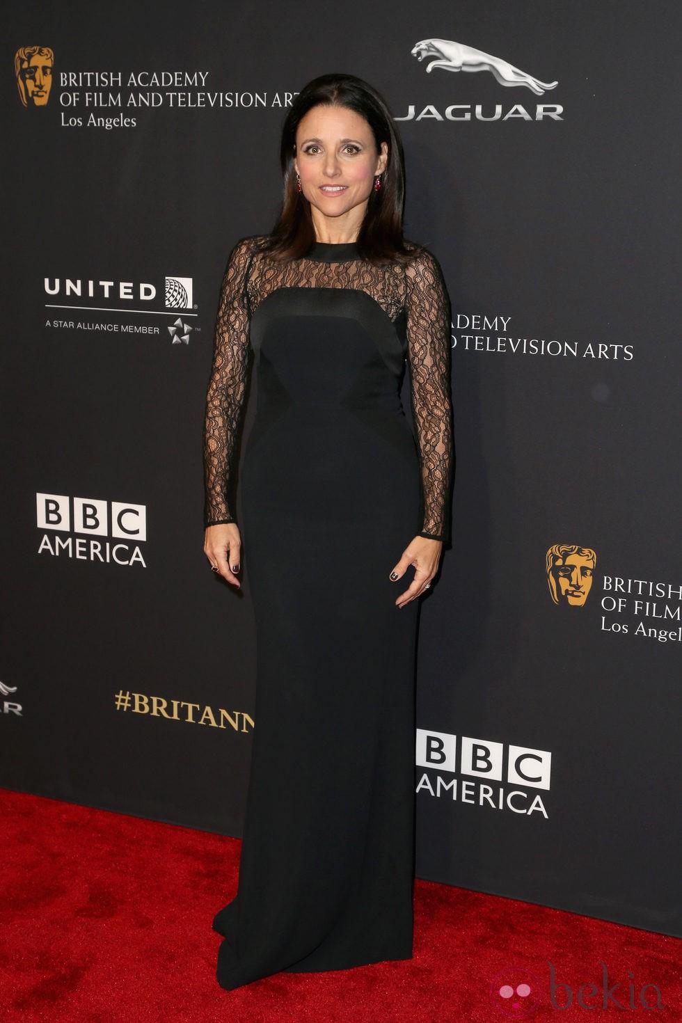 Julia Louis-Dreyfus en la entrega de los Premios Bafta Britannia 2014