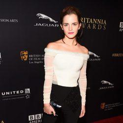Emma Watson en la entrega de los Premios Bafta Britannia 2014