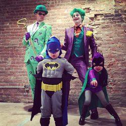 Neil Patrick Harris, David Burtka y sus hijos, Halloween 2014 con temática Batman