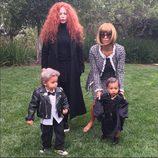 Kim Kardashian y North West disfrazados de Anna Wintour y André Leon Talley