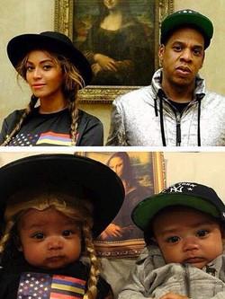Beyoncé comparte una divertida interpretación de una foto de la pareja