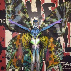 Heidi Klum posa como mariposa en su tradicional fiesta de Halloween
