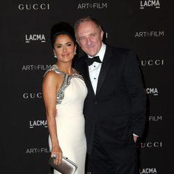 Salma Hayek y François-Henri Pinaut en la gala LACMA Art + FIlm 2014