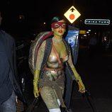 Rihanna es una Tortuga Ninja en Halloween 2014