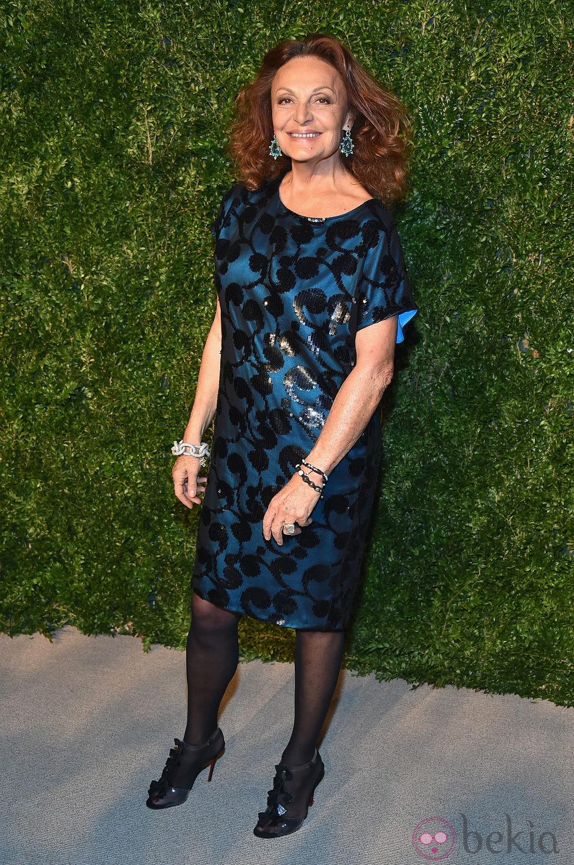 Diane von Furstenberg en la entrega de los CFDA 2014 / Vogue Fashion Fund