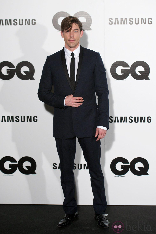 Adrián Lastra en los Premios GQ 2014