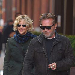 Meg Ryan y su novio pasean por Nueva York tras su reciente reconciliación