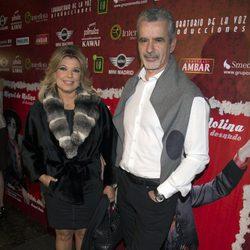Terelu Campos y José Valenciano en el estreno de 'Miguel de Molina al desnudo'