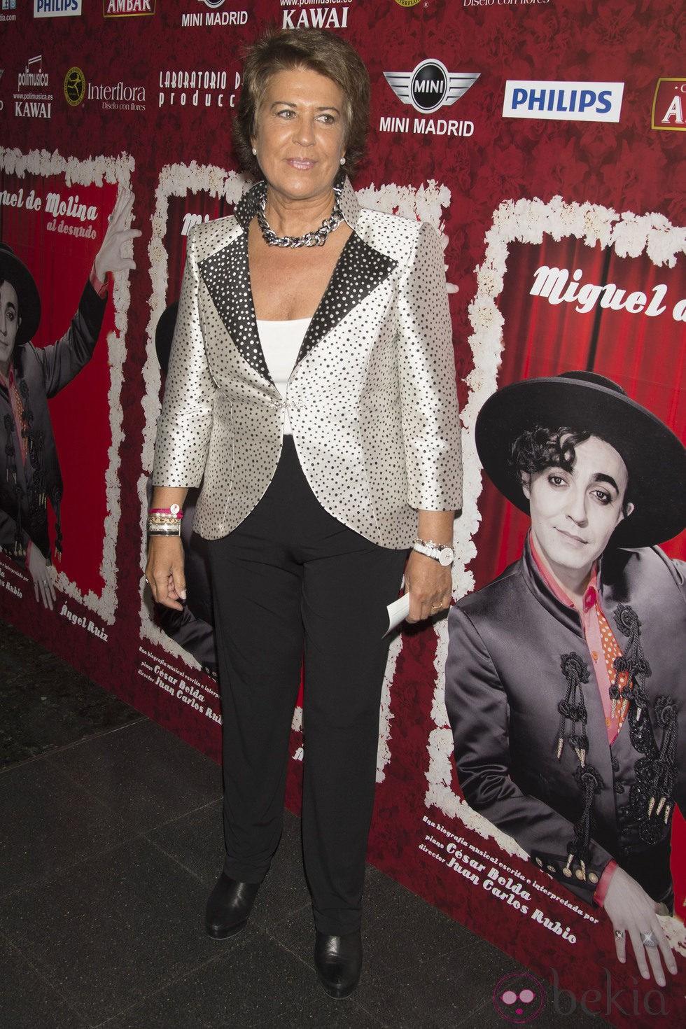 La poligrafista Conchita en el estreno de 'Miguel de Molina al desnudo'