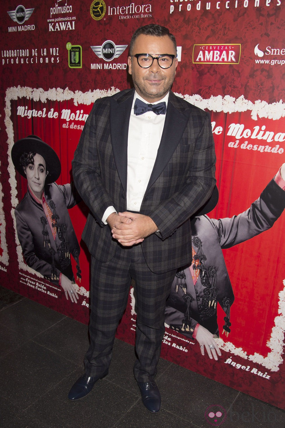 Jorge Javier Vázquez en el estreno de 'Miguel de Molina al desnudo'