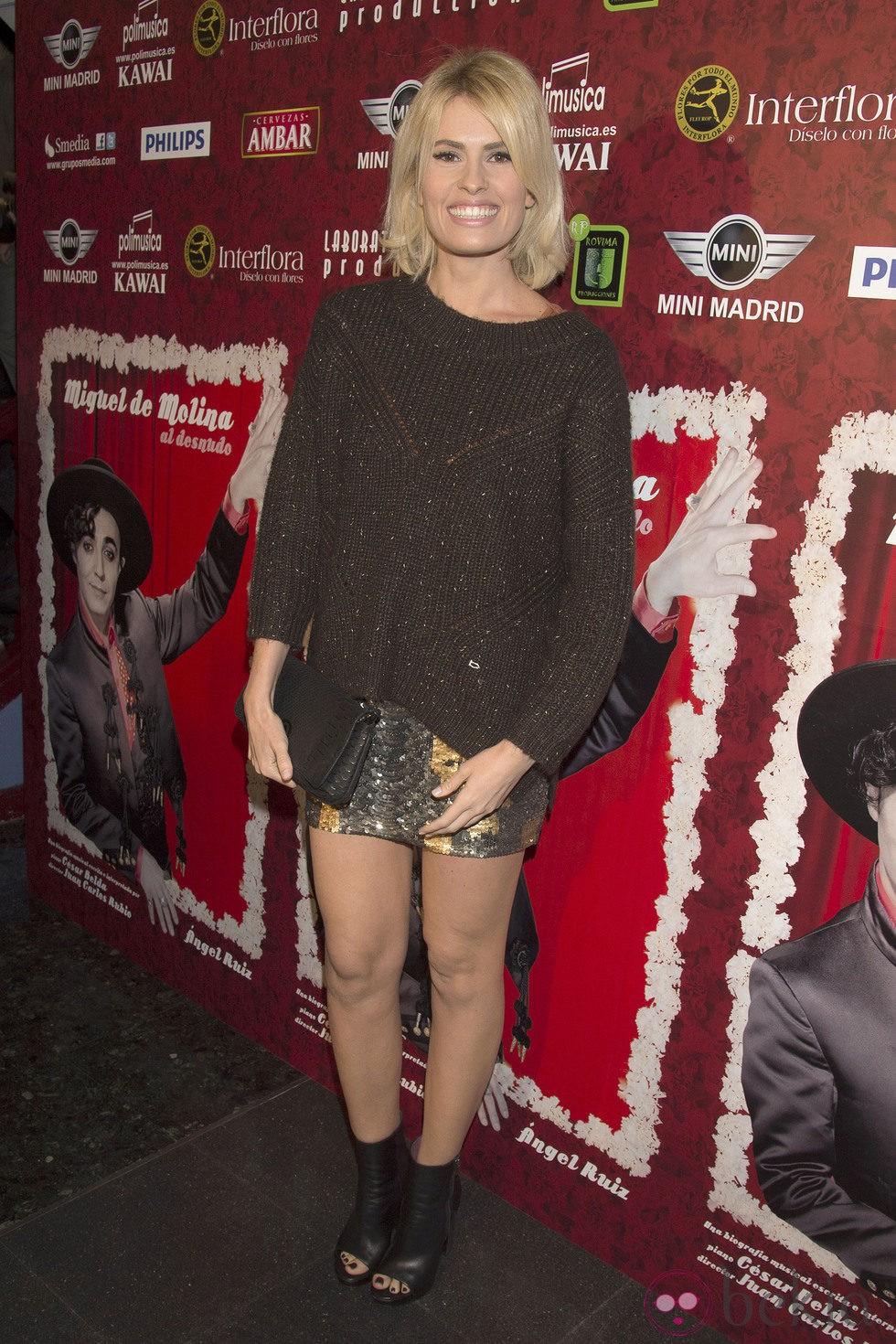Adriana Abenia en el estreno de 'Miguel de Molina al desnudo'