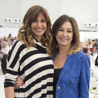 Mariló Montero y Ana Rosa Quintana en un almuerzo en homenaje al Padre Ángel
