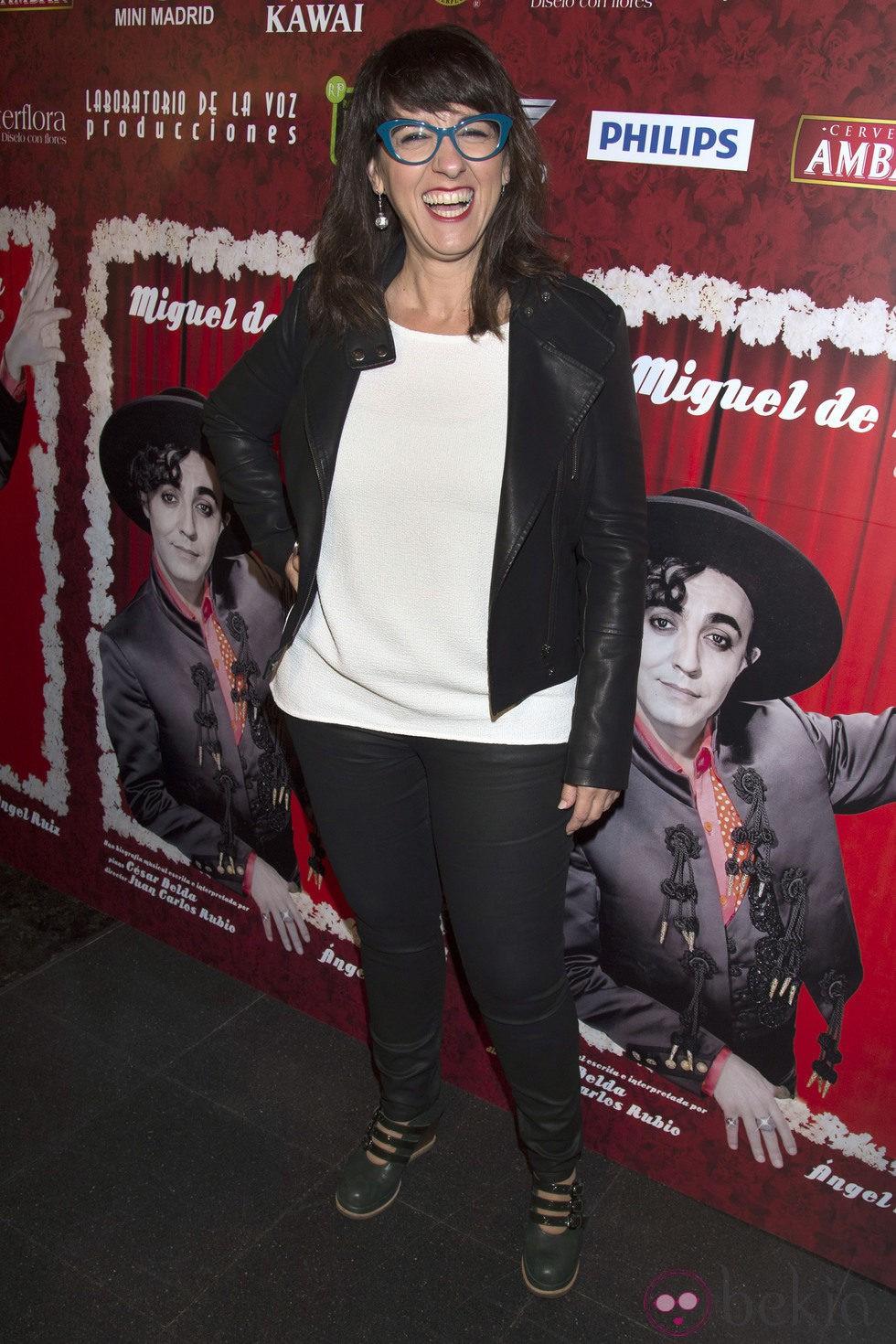 Llum Barrera en el estreno de 'Miguel de Molina al desnudo'