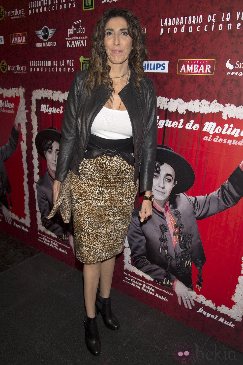 Paz Padilla en el estreno de 'Miguel de Molina al desnudo'