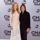 Keith Urban y Nicole Kidman en la entrega de los premios CMA Awards 2014