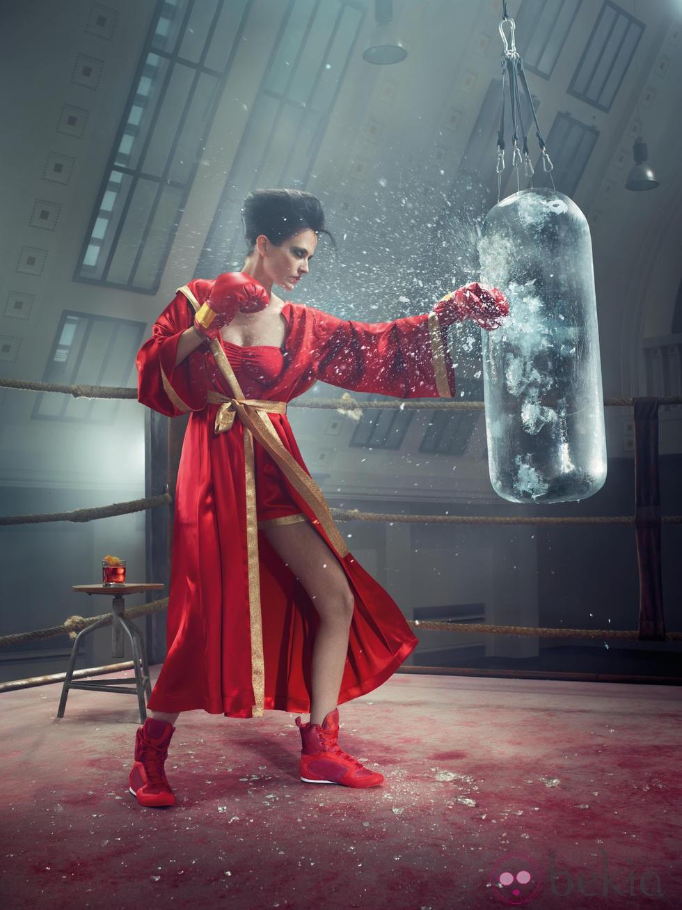 Eva Green es una boxeadora en el mes de mayo del Calendario Campari 2015