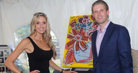 Eric Trump y su mujer Lara Yunaska en un concurso benéfico