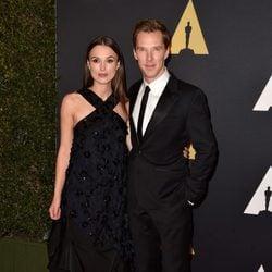 Keira Knightley y Benedict Cumberbatch en los 'Premios Governors' 2014