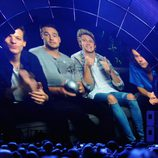 One Direction agradeciendo su premio en los MTV EMA 2014 en un vídeo