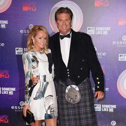David Hasselhoff y Hayley Roberts en los MTV EMA 2014