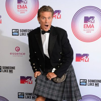David Hasselhoff en los MTV EMA 2014