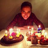 Ana Fernández celebrando su 25 cumpleaños