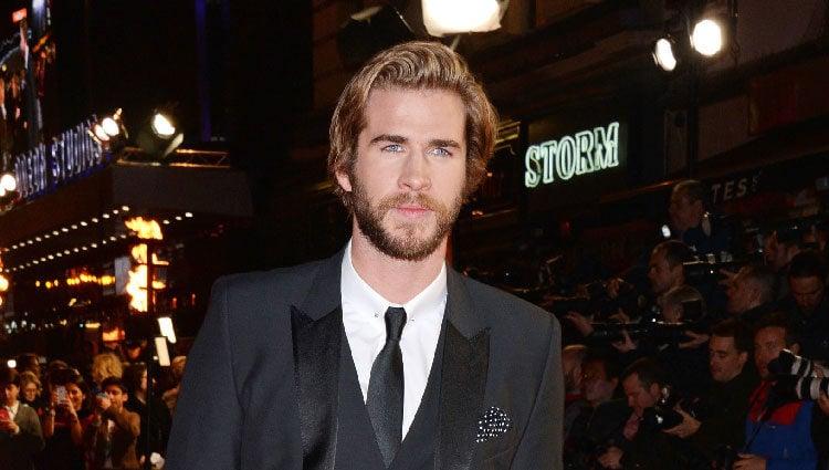 Liam Hemsworth en el estreno de 'Los Juegos del Hambre: Sinsajo Parte 1' en Londres