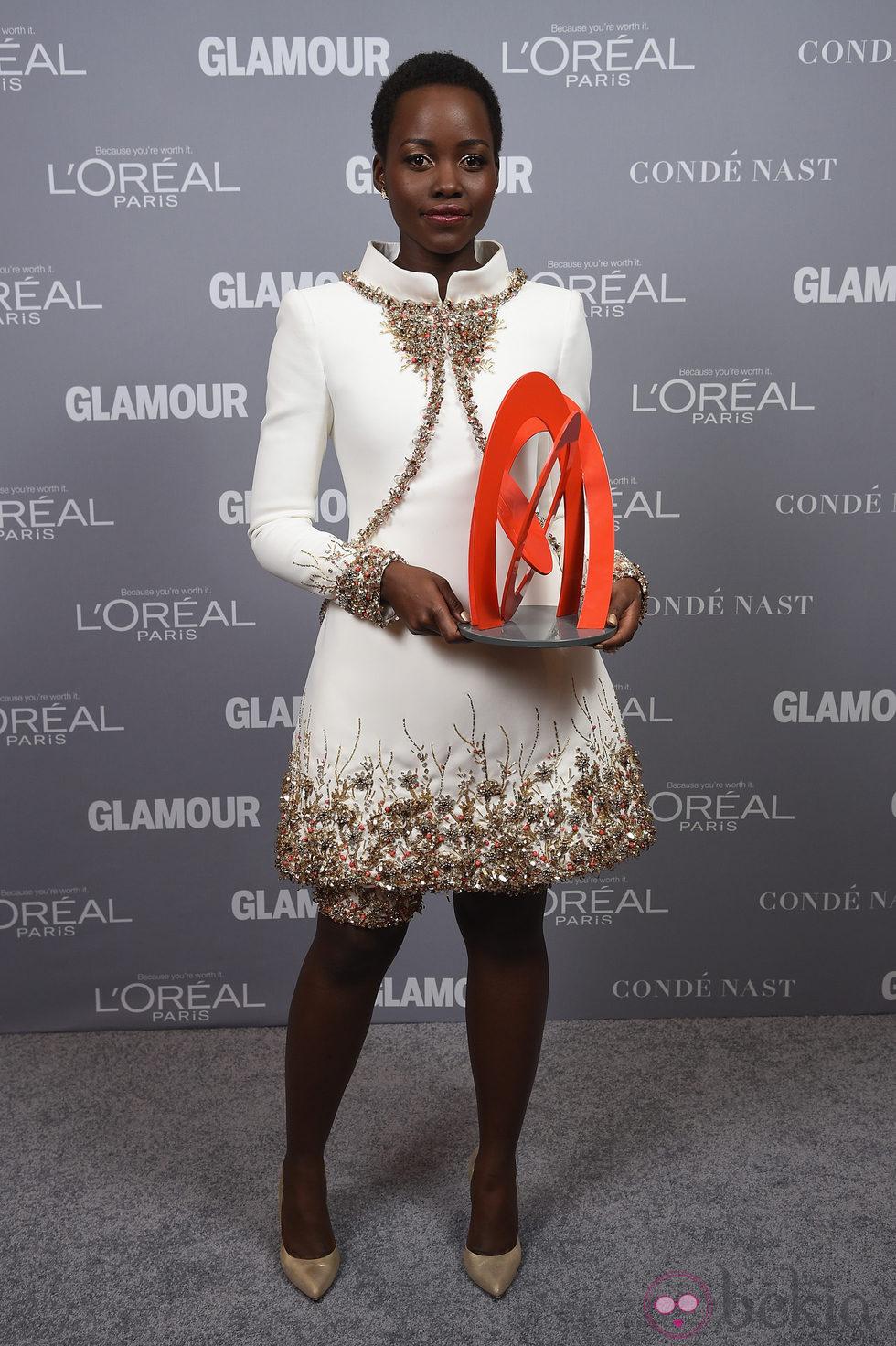 Lupita Nyong'o en la entrega de los Glamour Women Of The Year Awards 2014