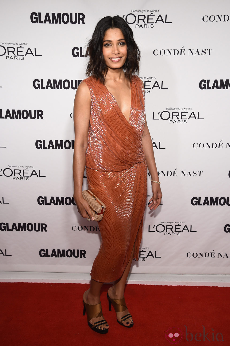 Freida Pinto en la entrega de los Glamour Women Of The Year Awards 2014