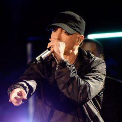 Eminem durante su actuación en Concert for Valor 2014