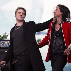 Pete Doherty y Caral Barat, de The Libertines, actúan en el BST Hyde Park 2014