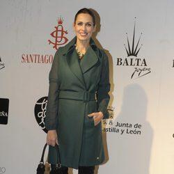 Lola Marceli en la presentación de la colección del peletero Santiago del Palacio