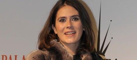 Anna Allen en la presentación de la colección del peletero Santiago del Palacio