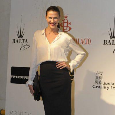 Laura Sánchez en la presentación de la colección del peletero Santiago del Palacio