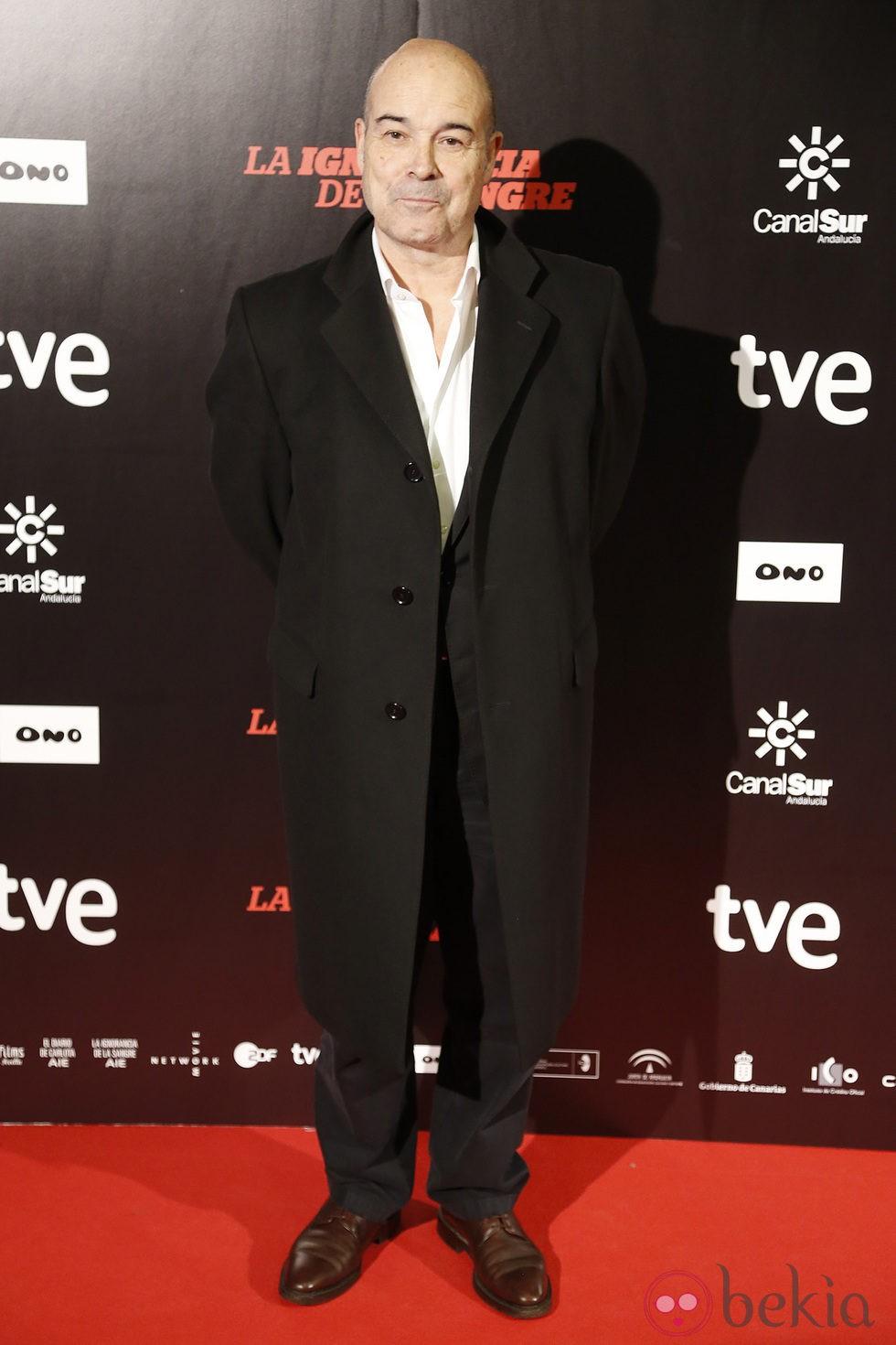 Antonio Resines en el estreno de 'La ignorancia de la sangre' en Madrid