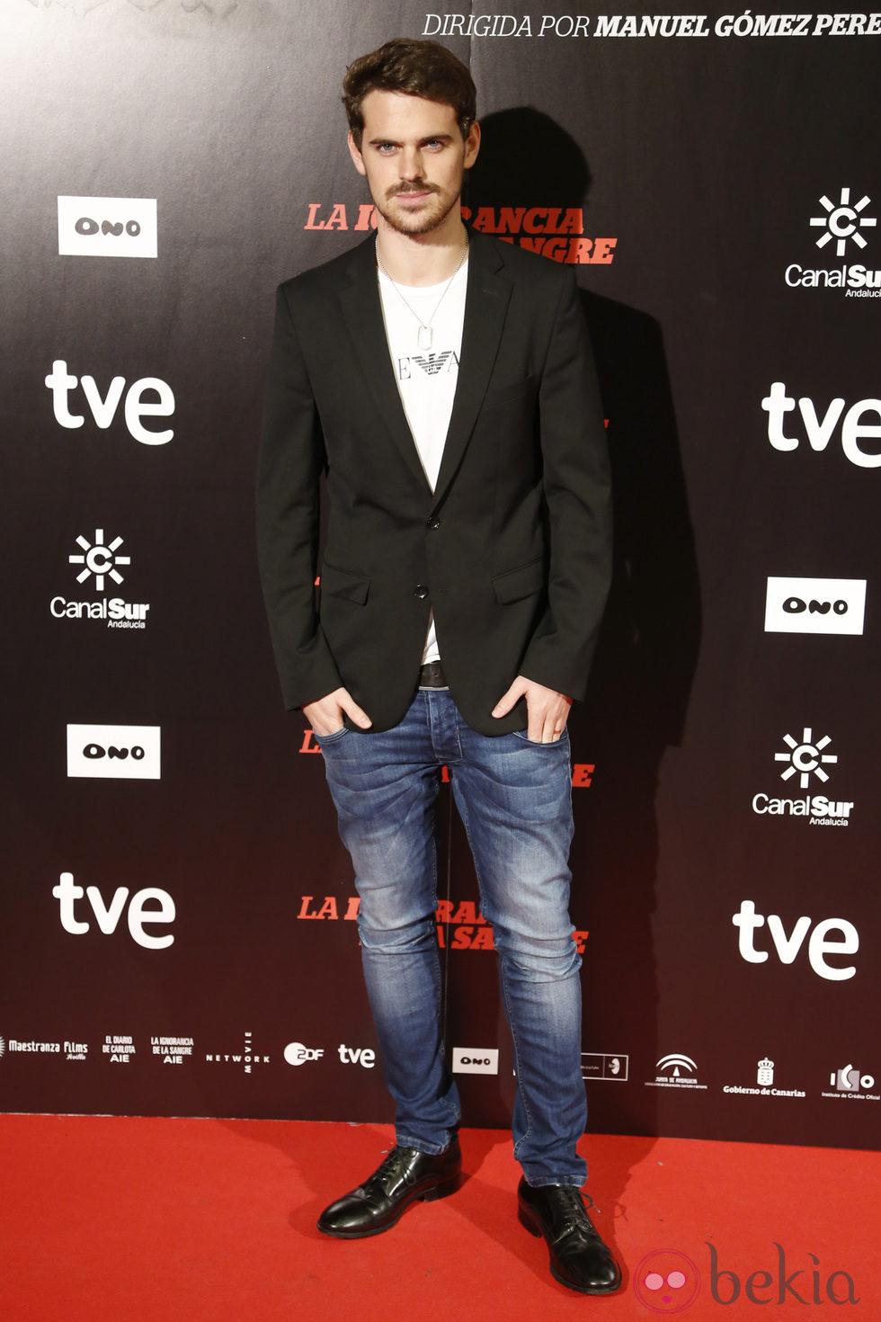 Gonzalo Ramos en el estreno de 'La ignorancia de la sangre' en Madrid