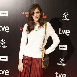 Sandra Martín en el estreno de 'La ignorancia de la sangre' en Madrid