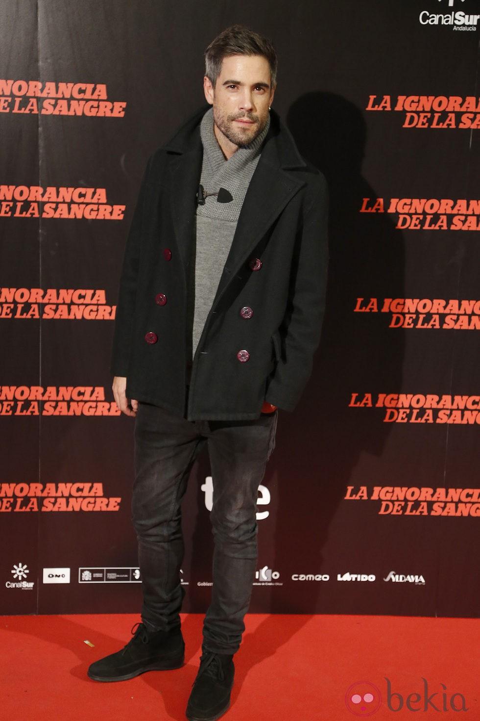 Unax Ugalde en el estreno de 'La ignorancia de la sangre' en Madrid
