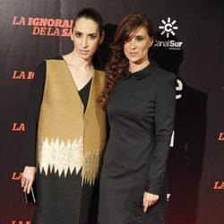 Nur Al Levi y María Botto en el estreno de 'La ignorancia de la sangre' en Madrid