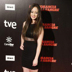 Elena Rivera en el estreno de 'La ignorancia de la sangre' en Madrid
