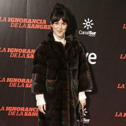 Sara Vega en el estreno de 'La ignorancia de la sangre' en Madrid
